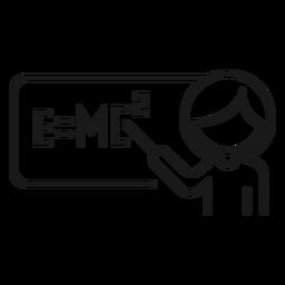 Explicación del profesor problema fórmula física trazo