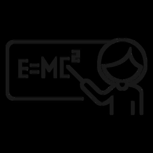 Profesor explicación problema fórmula física accidente cerebrovascular Transparent PNG