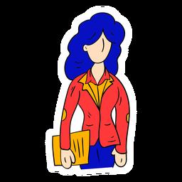 Profesor chaqueta papel boceto
