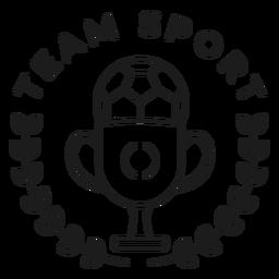 Equipo deportivo pelota copa rama insignia trazo