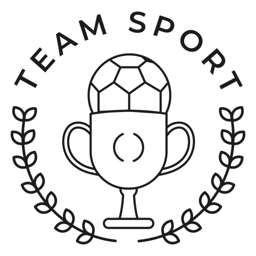 Equipo deporte bola copa rama insignia trazo Transparent PNG