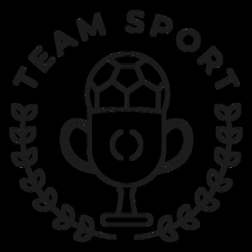 Esporte equipe bola Copa ramo crachá Transparent PNG