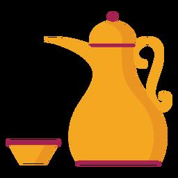 Teekanne Wasserkocher Kaffeekanne Teeschale flach