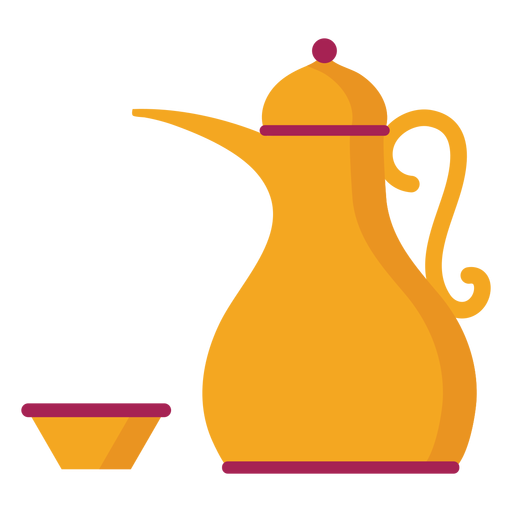 Teapot kettle coffee pot tea bowl flat Transparent PNG