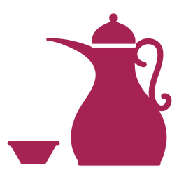 Teapot kettle coffee pot tea bowl silhouette