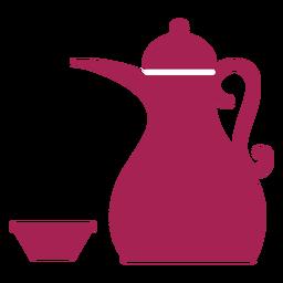 Teekanne Kessel Kaffeekanne Tee Schüssel Silhouette