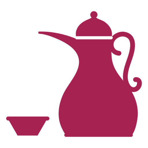 Teapot kettle coffee pot tea bowl silhouette Transparent PNG