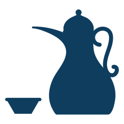 Teapot kettle tea bowl coffee pot silhouette