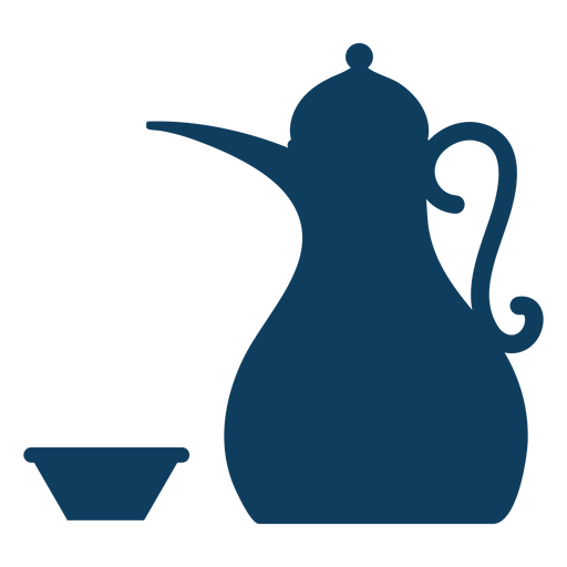 Teapot kettle tea bowl coffee pot silhouette Transparent PNG