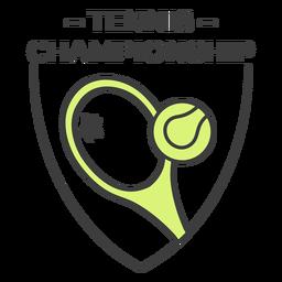 Etiqueta engomada coloreada bola de la raqueta de campeonato de tenis