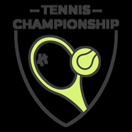 Etiqueta engomada coloreada bola de la raqueta de campeonato de tenis Transparent PNG