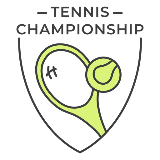 Tennis championship racket ball colored badge sticker Transparent PNG