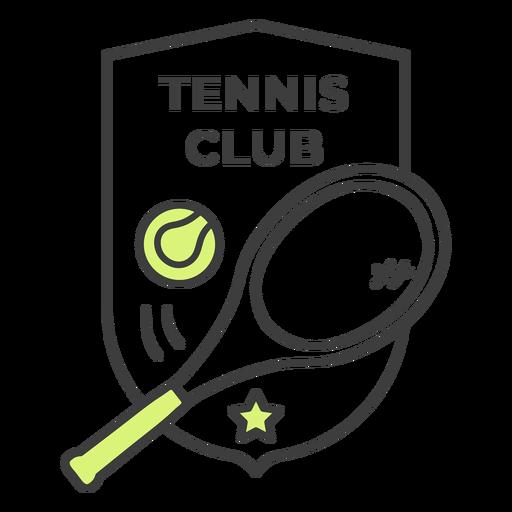 Etiqueta colorida do crachá da estrela da bola da raquete do clube de tênis Transparent PNG