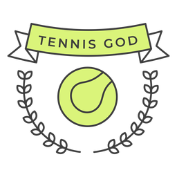 Tennis god ball branch colored badge sticker