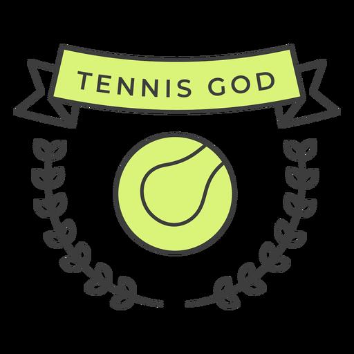 Tennis god ball branch colored badge sticker