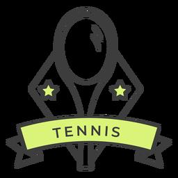 Etiqueta engomada coloreada estrella de la raqueta de tenis