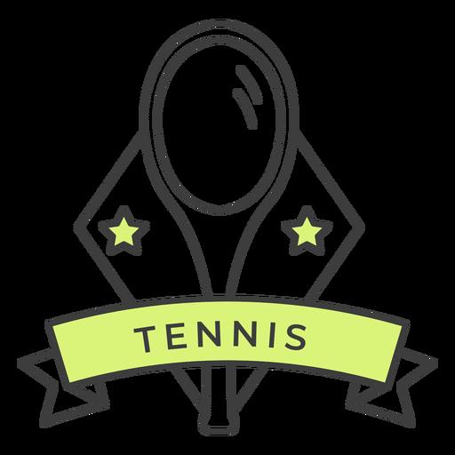 Etiqueta engomada coloreada estrella de la raqueta de tenis Transparent PNG