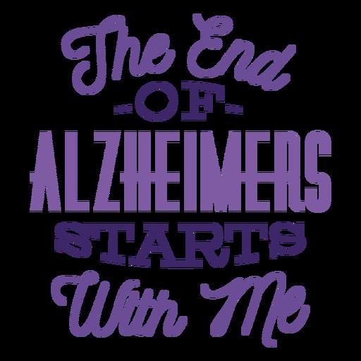 O fim de alzheimers parar comigo etiqueta do crachá Transparent PNG