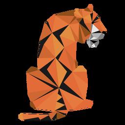 Tiger Maulkorb Streifen Schwanz Low Poly