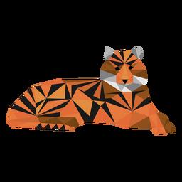 Tiger Streifen Maulkorb Schwanz Low Poly