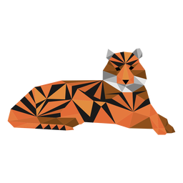 Tiger stripe muzzle tail low poly