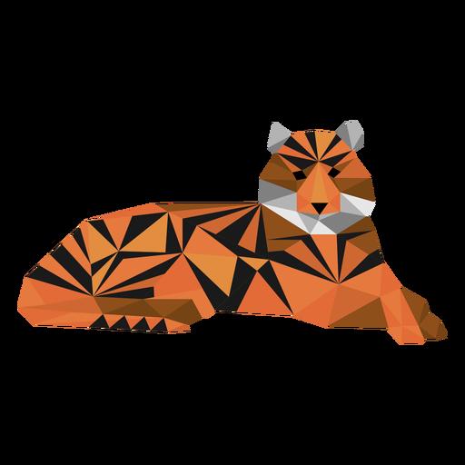 Boquilla de raya tigre cola baja poli Transparent PNG