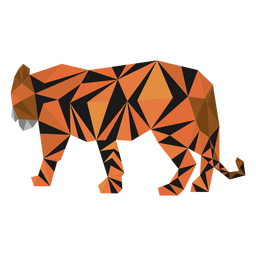Tiger stripe tail low poly