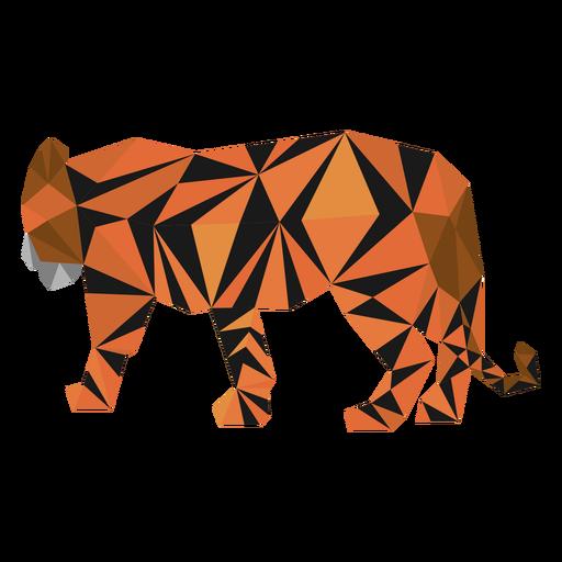 Raya tigre cola baja poli Transparent PNG