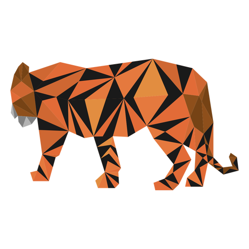 Tiger stripe tail low poly Transparent PNG