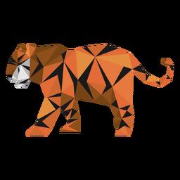 Tiger Streifen Schwanzmaulkorb Low Poly
