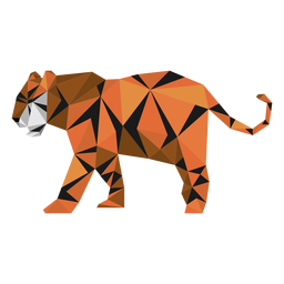 Tiger stripe tail muzzle low poly