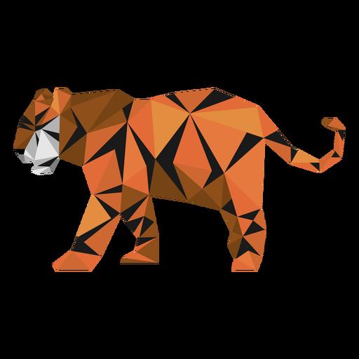Tiger Streifen Schwanzmaulkorb Low Poly Transparent PNG