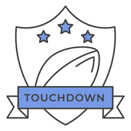 Touchdown ball star colored badge sticker
