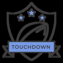 Touchdown Ball Star farbigen Abzeichen Aufkleber