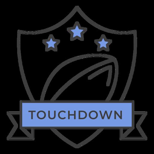Adesivo de crachá colorido estrela bola de touchdown Transparent PNG