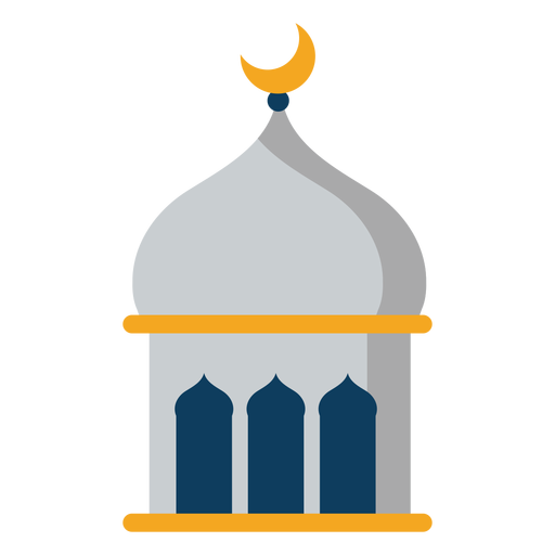 Tower mosque dome crescent flat Transparent PNG