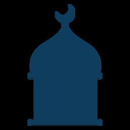 Silhueta crescente da abóbada da mesquita da torre
