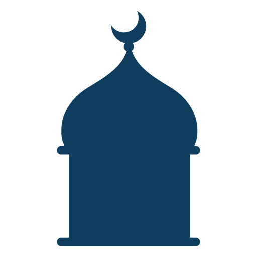 Tower mosque dome crescent silhouette Transparent PNG