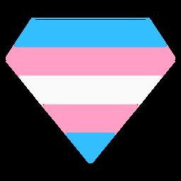 Franja brillante de diamantes transgénero plana