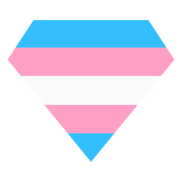 Tarja de diamante brilhante Transgender plana
