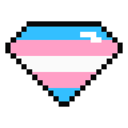Diamante brillante raya pixel plano transgénero