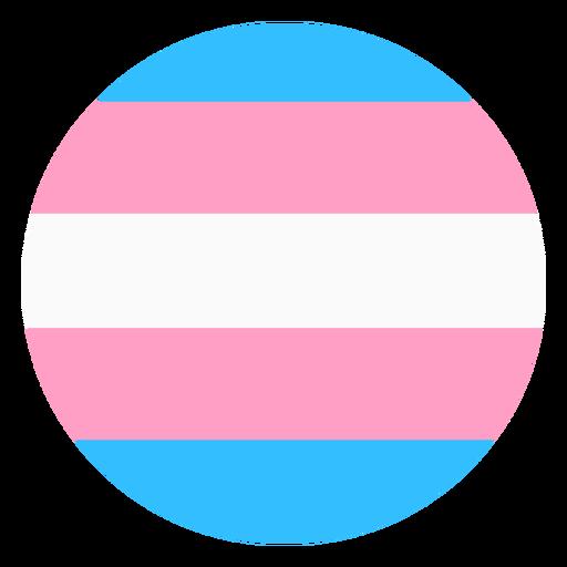 Faixa circular transgênero plana
