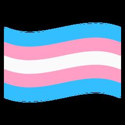 Bandera de transexual franja plana