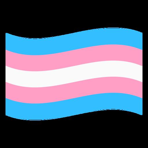 Bandera transgénero raya plana Transparent PNG