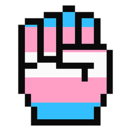 Transgênero mão dedo punho faixa pixel plana