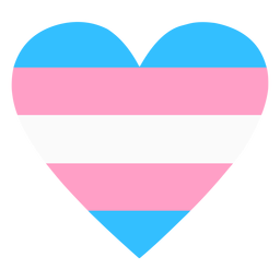 Transgender heart stripe flat