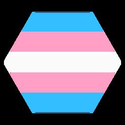 Tarja do hexágono Transgender plana
