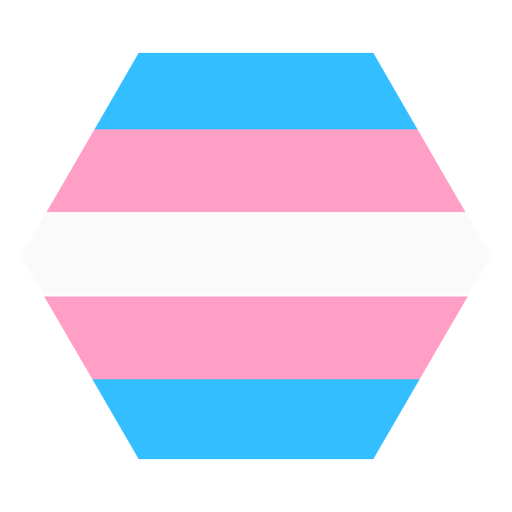 Transgender hexagon stripe flat Transparent PNG