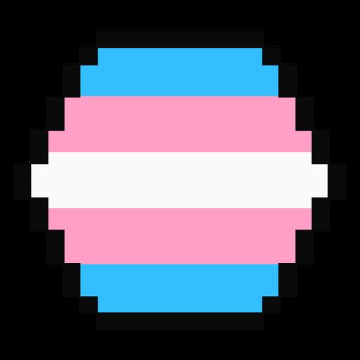 Transgender Sechseck Streifen Pixel flach Transparent PNG