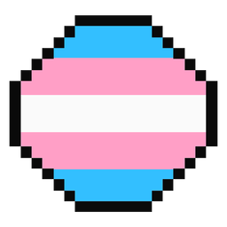 Transgender octagon stripe pixel flat